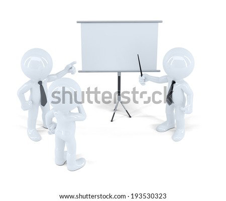 Businesspeople at presentation. Isolated. Contains clipping path