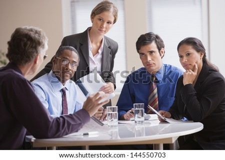 Businesspeople having a meeting