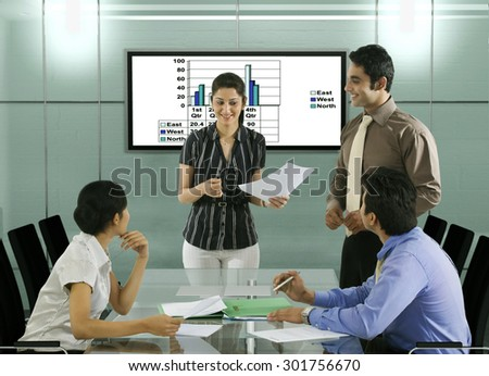 Businesspeople in a meeting - stock photo