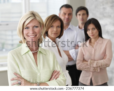 Businesspeople in Office - stock photo