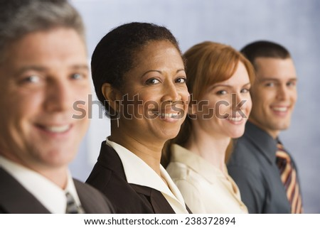 Businesspeople Standing in a Row - stock photo