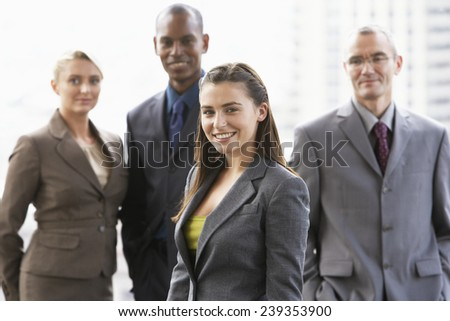 Businesspeople Standing Together as a Team - stock photo