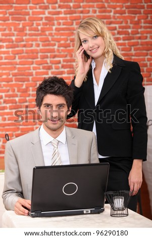 Businesspeople working at home - stock photo