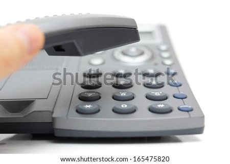 businessperson is answering the phone - stock photo