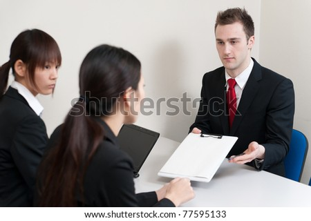 businessperson on the meeting - stock photo