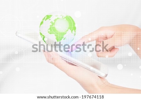 Businessperson Using A Digital Tablet - stock photo