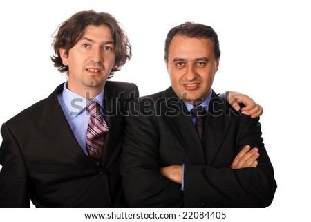 businessteam over white background studio