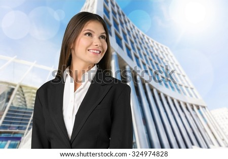 Businesswoman. - stock photo