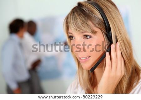 Businesswoman and international business - stock photo