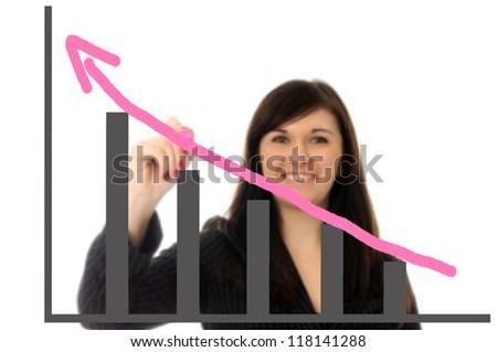 Businesswoman at a presentation / presentation - stock photo