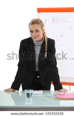 businesswoman at her office