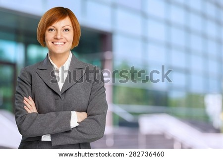 Businesswoman, Business, Business Person. - stock photo