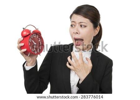 Businesswoman Checking the Time late