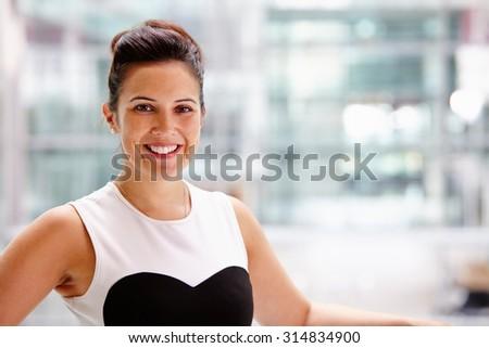 Businesswoman, head and shoulders portrait - stock photo