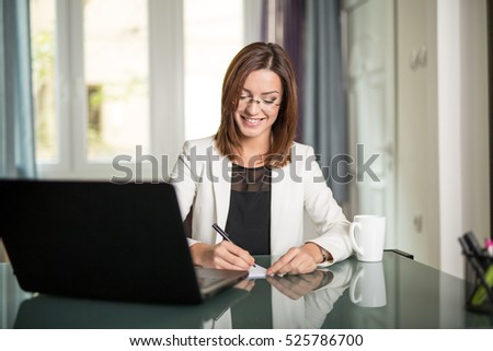 Businesswoman in her office
