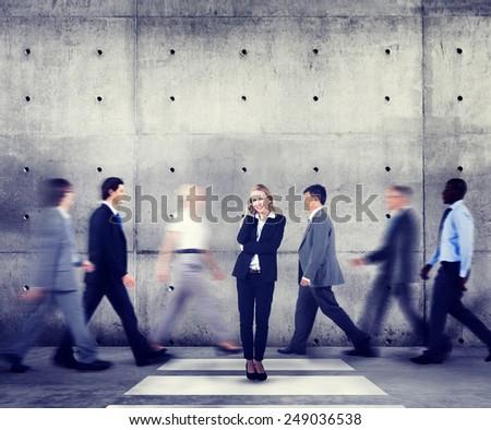 Businesswoman Individuality Role Model Modern Organization Concepts - stock photo