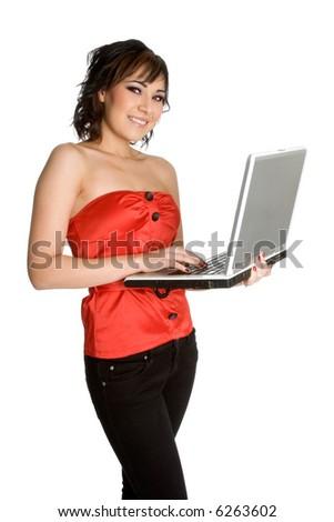 Businesswoman on Laptop - stock photo
