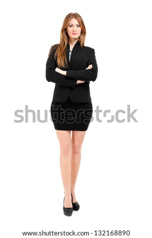 Businesswoman portrait full length