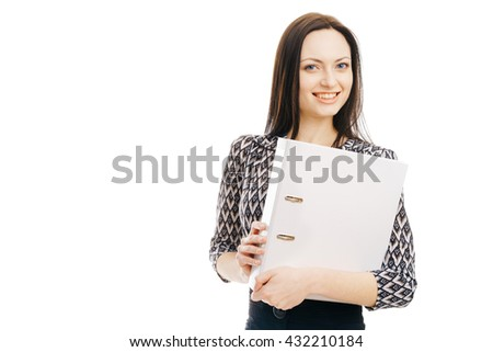 Businesswoman portrait isolated