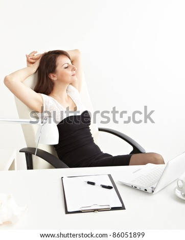 businesswoman rest at office