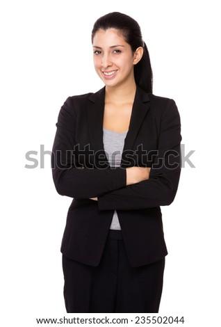Businesswoman smile - stock photo