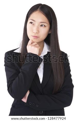 Businesswoman thinking - stock photo