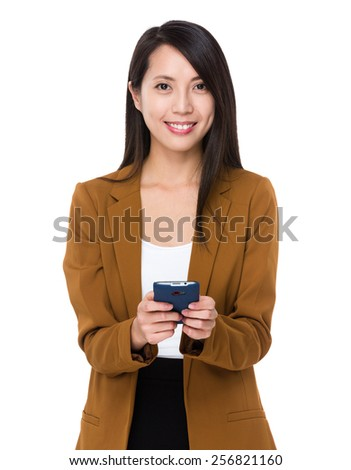Businesswoman use of tablet