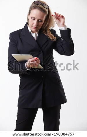 Businesswoman with pc tablet