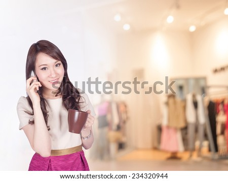 businesswoman working at the office  - stock photo
