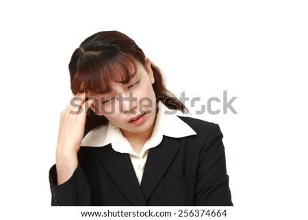 businesswoman worries - stock photo