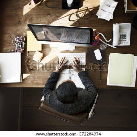 Businesswomen Creative Inspiration Occupation Concept - stock photo