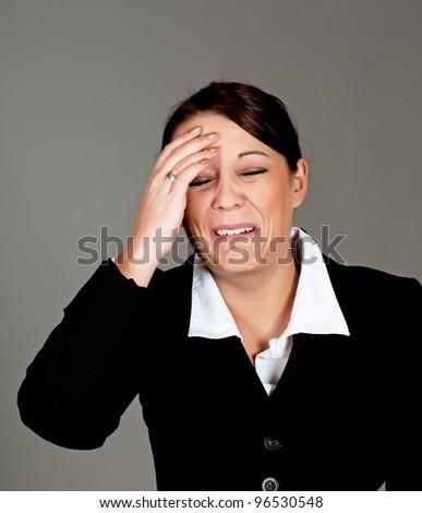 businesswomen crying - stock photo
