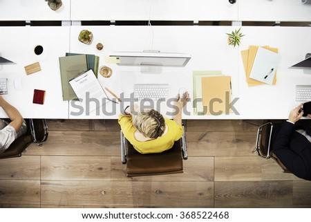 Businesswomen Office Cooperation Digital Device Concept - stock photo