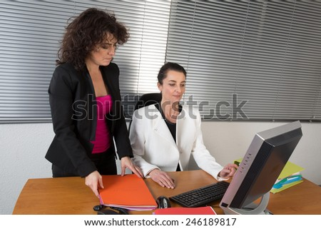 Businesswomen working at office