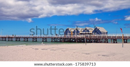 Busselton Jetty, close to Margaret River, Western Australia