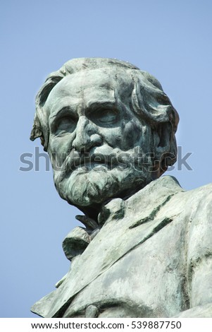 BUSSETO, PARMA, ITALY - JULY 30: Giuseppe Verdi Statue, July 30, 2016