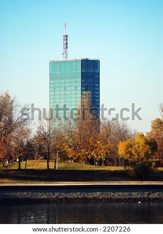Bussines building in Belgrade - stock photo