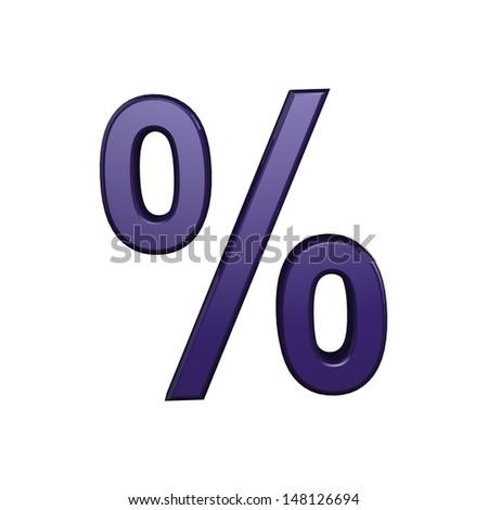 Bussines symbols. 3D percentage - stock photo