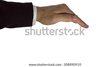 bussiness hand isolated on white