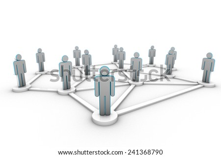 Bussiness Network - stock photo