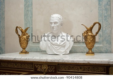 Bust from the ancient Roma - stock photo