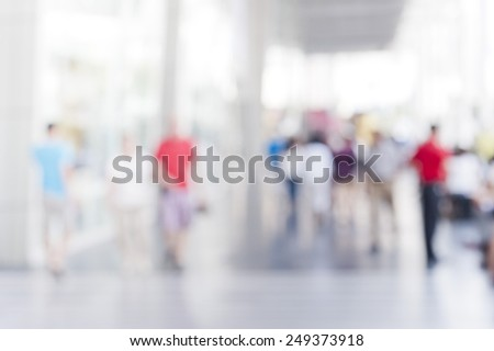 busy city pedestrian people crowd on street road abstract , blur background with bokeh image .  - stock photo