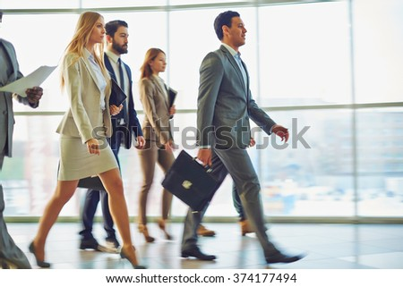 Busy employees - stock photo