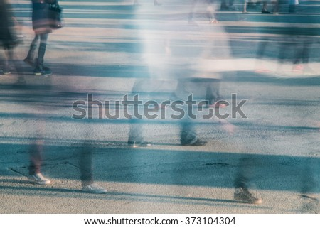 Busy People Walking - stock photo