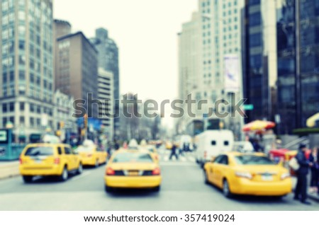 Busy street of New York City