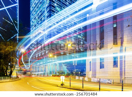 Busy traffic in Hong Kong - stock photo