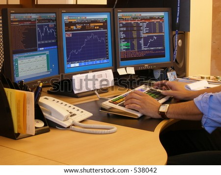 Busy working time - stock photo