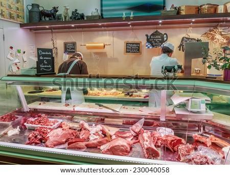 butcher shop - stock photo