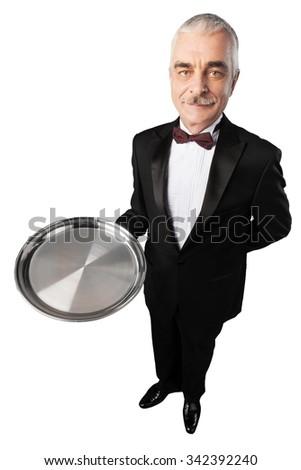Butler. - stock photo