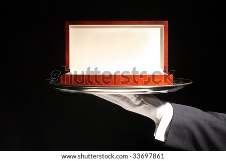Butler serving Luxury Wooden Gift Box